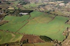 Opinión aérea una cosecha Imagen de archivo libre de regalías