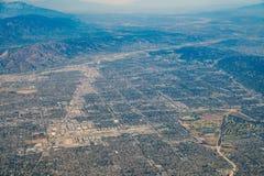 Opinión aérea Van Nuys, Sherman Oaks, Hollywood del norte, estudio C Imágenes de archivo libres de regalías