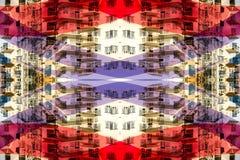 Opinión abstracta de la ciudad que es Conce Foto de archivo libre de regalías