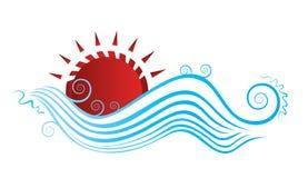 Opinión abstracta del día de fiesta del sol y del mar libre illustration