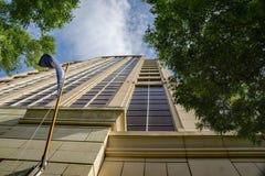 Opinión abstracta Wells Fargo Tower - 2 fotografía de archivo