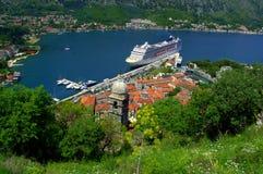 Opinión adriática pintoresca del verano, Kotor Montenegro Foto de archivo libre de regalías