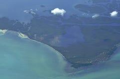 Opinión aerotransportada de la isla Fotografía de archivo libre de regalías