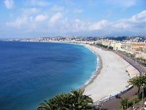 Opinión agradable de la playa Imagen de archivo libre de regalías