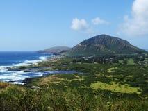 Opinión agradable Koko Crater, Oahu, Hawaii foto de archivo libre de regalías
