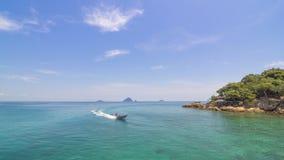 Opinión agradable y tranquila de mar abierto Fotos de archivo libres de regalías