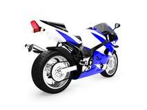 Opinión aislada de la parte posterior de la motocicleta ilustración del vector