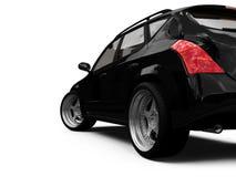 Opinión aislada del primer del coche ilustración del vector