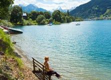 Opinión alpestre del lago del verano fotografía de archivo libre de regalías