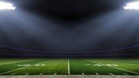 Opinión americana del campo del ángulo bajo del estadio de fútbol imagenes de archivo