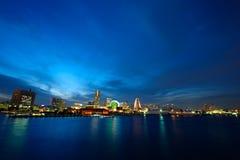 Opinión amplia de la bahía de Yokohama Fotos de archivo libres de regalías
