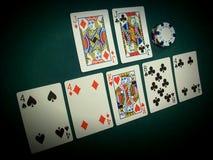Opinión angulosa del póker de Pai Gow Imagen de archivo
