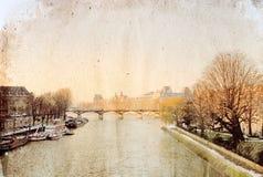 Opinión antigua de la ciudad Fotografía de archivo