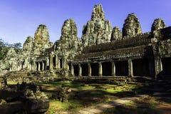 Opinión antigua del templo de Bayon fotografía de archivo libre de regalías