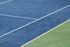 Opinión artificial del campo de tenis del césped Imagen de archivo