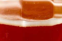 Opinión ascendente cercana del extremo de la bebida carbónica Imágenes de archivo libres de regalías