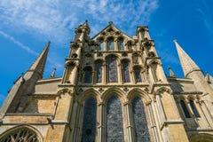 Opinión ascendente Ely Cathedral, Cambridgeshire Imagen de archivo