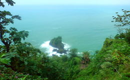 Opinión asombrosa del paisaje de la playa fotos de archivo