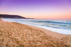 Opinión asombrosa del paisaje marino de la puesta del sol Imagen de archivo