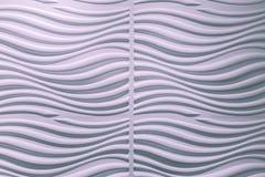 Opinión asombrosa del primer del fondo decorativo ondulado rosáceo de la pared interior imágenes de archivo libres de regalías