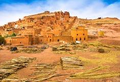 Opinión asombrosa Kasbah Ait Ben Haddou cerca de Ouarzazate en el Atl Fotos de archivo libres de regalías