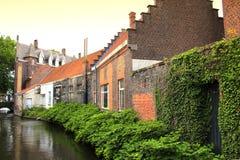 Opinión Bélgica del canal de Brujas Fotos de archivo