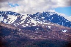 Opinión Ben Nevis Range en Fort William en las montañas de Escocia Fotos de archivo
