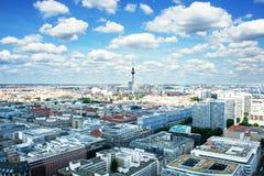 Opinión bird's-eye de Berlín foto de archivo