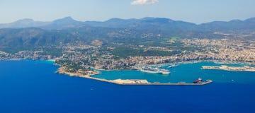 Opinión Bird's-eye sobre la isla Mallorca Foto de archivo libre de regalías
