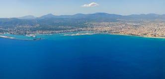 Opinión Bird's-eye sobre la isla Mallorca Fotos de archivo libres de regalías