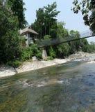Opinión blanca del norte de la casa de Bahorok Sumatera Foto de archivo libre de regalías