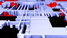 Opinión brillante futurista del primer del circuito, 3d fondo, contenido generado por ordenador, placa de circuito impresa futuri ilustración del vector