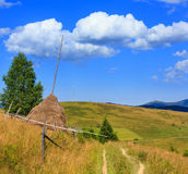 Opinión cárpata, Ucrania del país de la montaña del verano imágenes de archivo libres de regalías