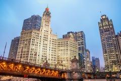 Opinión céntrica de Chicago foto de archivo