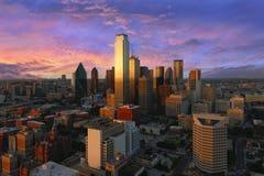 Opinión céntrica de Dallas tirada de torre de la reunión foto de archivo libre de regalías