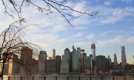 Opinión céntrica de la ciudad de Manhattan Fotografía de archivo