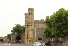 Opinión Cantorbery Inglaterra de la calle de los edificios históricos Imágenes de archivo libres de regalías