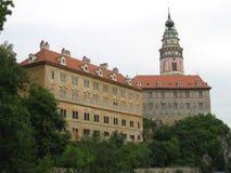Opinión checa del castillo de Krumlov Imagen de archivo libre de regalías