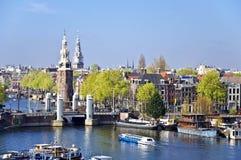 Opinión clásica de Amsterdam. Fotografía de archivo