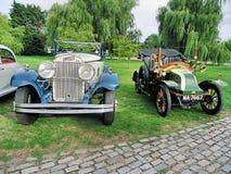 Opinión clásica de los coches fotografía de archivo