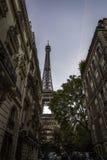 Opinión clásica de París de la torre Eiffel imagen de archivo libre de regalías