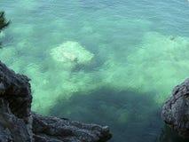 Opinión colorida del fondo del mar fotografía de archivo libre de regalías