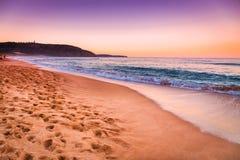 Opinión colorida del paisaje marino de la puesta del sol Imagen de archivo libre de regalías
