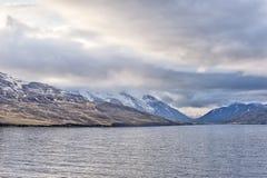 Opinión costera de Akureyri Islandia Foto de archivo libre de regalías