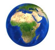 Opinión de África del globo de la tierra aislada Fotografía de archivo libre de regalías