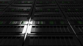 Opinión de ángulo bajo del sitio del servidor Versión sin defocus Cgi Fotografía de archivo libre de regalías