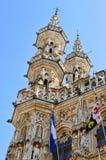 Ayuntamiento de Lovaina, Bélgica Fotografía de archivo libre de regalías