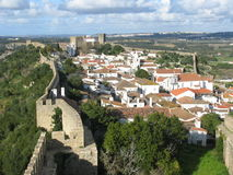 Opinión de Ãbidos, Portugal Imagen de archivo
