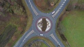Opinión de Aeria de un círculo de tráfico metrajes
