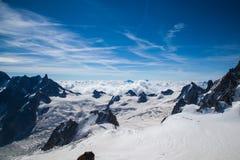 Opinión de Aiguille du Midi Foto de archivo libre de regalías